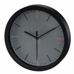 Zegar ścienny maxr, Ø 25 cm, cichy, szary