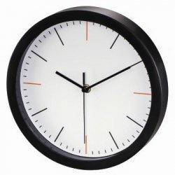 Zegar ścienny maxr, Ø 25 cm, cichy, biały