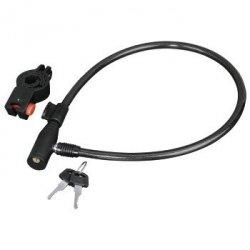 Linka zabezpieczająca do roweru, 65 cm, czarna