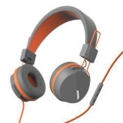 On-ear-stereo-headset next, grau/neon orange
