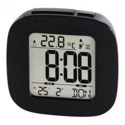 Zegar dcf z budzikiem rc45, czarny