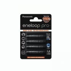 4 akumulatorki panasonic eneloop pro r6 aa, min. 2.500 mah