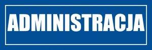 Znak informacyjny - Administracja