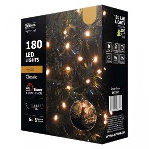 Lampki choinkowe 18m VINTAGE LED 180szt ZY2288T