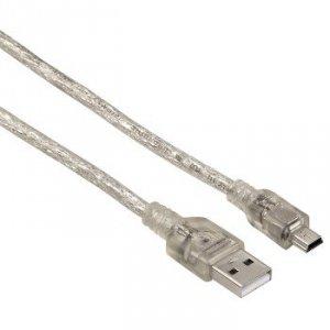 Kabel połączeniowy USB 2.0 Wtyk A - Wtyk Mini-B (b5 pin) 0,75 m - Hama