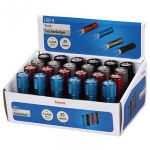 Latarka 9 led - display 24 szt. cena za 1 sztukę