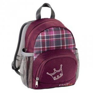 Plecak Przedszkolny Little Dressy, Kratka-Bordo