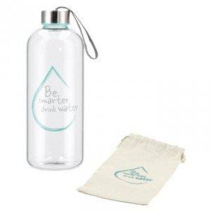 Szklana butelka Water power 1l turkusowa - XavaX