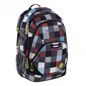 Plecak szkolny EvverClevver 2 Checkmate Blue Red - Coocazoo