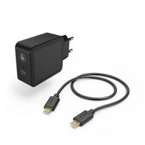 Ładowarka sieciowa USB Type-C gniazdo PD 3a 18W czarna + kabel Type-C - Hama