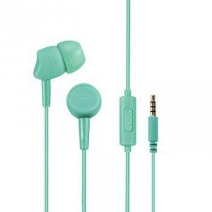 Słuchawki douszne Basic4phone z mikrofonem miętowe - Hama