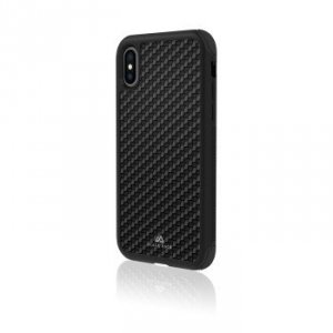 Etui do iPhone XS Robust Real Carbon czarne - Black Rock