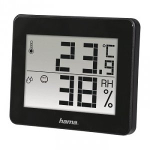 Termometr/hygrometr TH-130 czarny - Hama