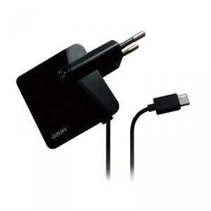 AZURI Ładowarka sieciowa USB-C 2.4A czarna