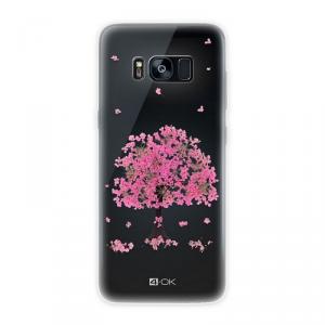 4OK Flower Etui Samsung Galaxy S8 Plus różowe drzewo