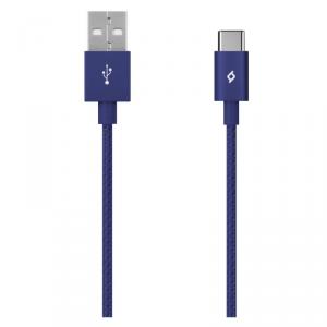 TTEC kabel aluminiowy USB-C 2.0 granatowy