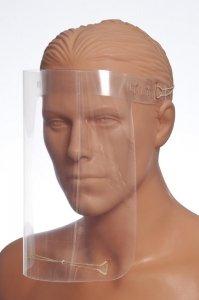 Przyłbica ochronna plastikowa, ochrona twarzy - wersja z regulacją na płacie potylicznym