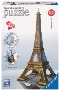 Ravensburger, Wieża Eiffla, Puzzle 3D 216 elementów + gratis