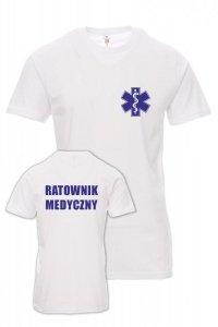 Koszulka biała - znakowanie - RATOWNIK MEDYCZNY