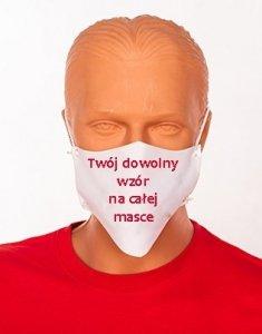 Maseczka na twarz z dowolnym nadrukiem - streetwear