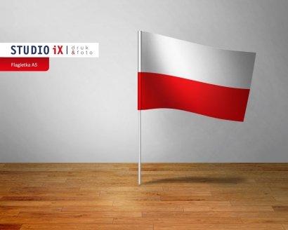 Chorągiewka papierowa biało-czerwona - Studioix.pl