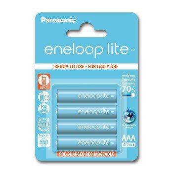 4 akumulatorki panasonic eneloop lite r3 aaa 550 mah