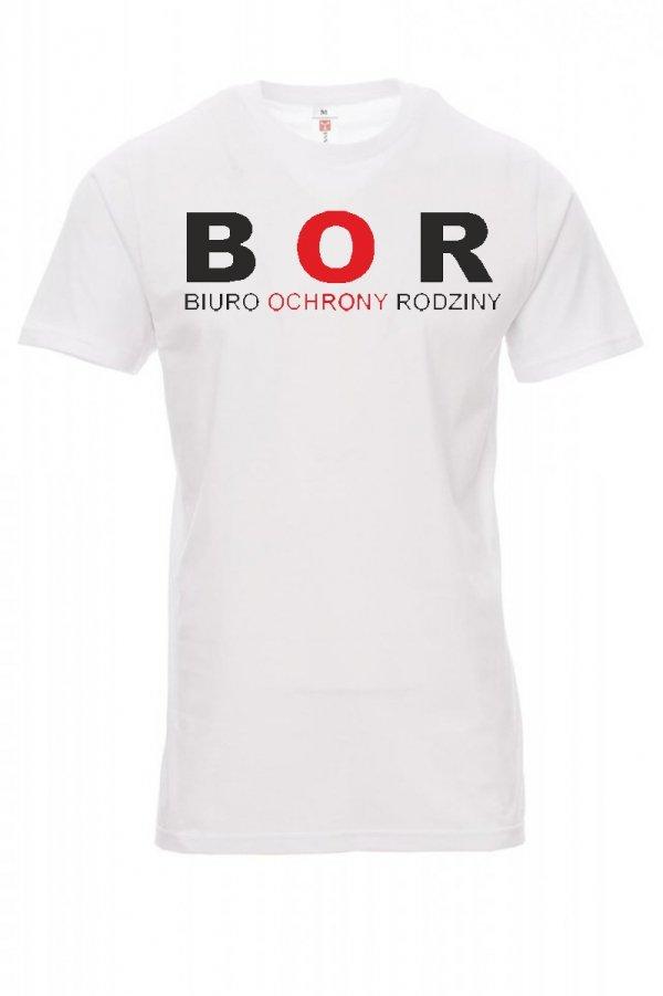 Koszulka biała - znakowanie - BOR