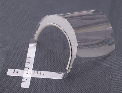 100 x Przyłbica ochronna z zabezpieczeniem na czole - pakiet 100 sztuk
