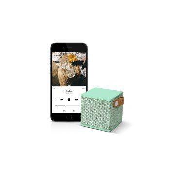 Głośnik-Bluetooth-Rockbox-Cube-Fabrick-Edition-Peppermint-Fresh'n-Rebel