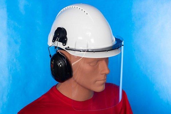 Przyłbica ochronna na kask - podnoszona