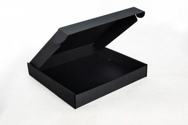 Karton wykrojnikowy ozdobny czarny 305x215x30 mm Fefco 427 - Studioix.pl