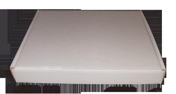 Białe pudełko z tektury falistej 22x16x3 cm | entero.pl - idealne rozwiązania
