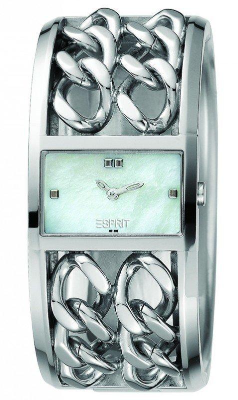 Stylowy Zegarek Esprit ES101112001 Double Dash White ES101112001  i fotoksiążka gratis