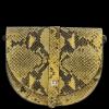 Kožená Kabelka Listonoška Vittoria Gotti Hadí Vzor Hořčičná