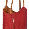 Klasické Kožené Kabelky Genuine Leather Červená-zrzavá