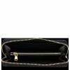 Luksusowy Lakierowany Skórzany Portfel Damski firmy Vittoria Gotti Made in Italy Czarny