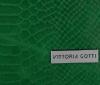 VITTORIA GOTTI Włoska Torebka Skórzana wzór Aligatora Zielona
