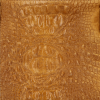 Duża Torba Skórzana z motywem Aligatora firmy Genuine Leather Jasno Ruda