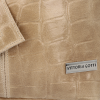 Uniwersalna Torebka Skórzana XL Shopper Bag w motyw zwierzęcy firmy Vittoria Gotti Beżowa