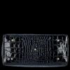 Ekskluzywny Lakierowany Kuferek Skórzany w motyw aligatora Vittoria Gotti Made in Italy Granat