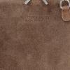 Małe Torebki Skórzane Listonoszki Vittoria Gotti wykonane w całości z Zamszu Naturalnego Ziemista