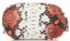 Vittoria Gotti Firmowa Listonoszka Skórzana Made in Italy w modny wzór Węża Ruda