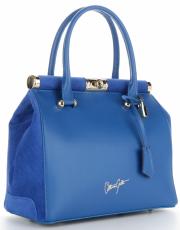 Kožené kabelky kufříky VITTORIA GOTTI Kobaltová