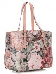 Dámská kabelka kožená kufřík VIttoria Gotti Multicolor růžová