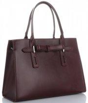 Kožené kabelky kufříky Vittoria Gotti Bordová