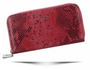 Dámská Peněženka Diana&Co Firenze hadí vzor Červená