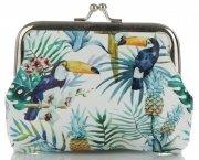 Módní Dámské Peněženky David Jones Multicolor Tukani & Tropické květiny