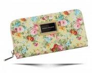 Dámská Peněženka XL Diana&Co vzorek v květinách Multicolor Žlutá