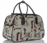 STŘEDNÍ cestovní taška kufřík Or&Mi London Multicolor - béžová