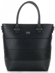 Dámská kabelka ažurová kufřík David Jones černá
